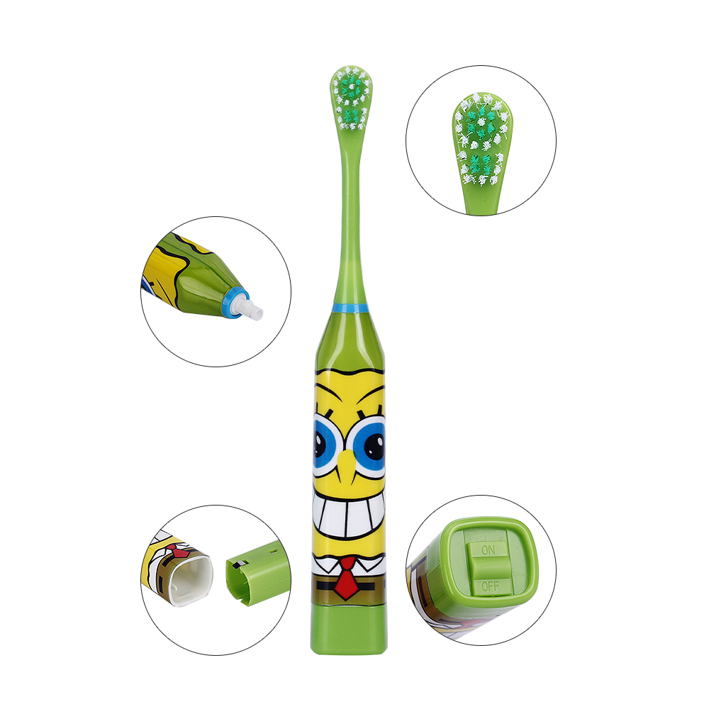 Hot Cartoon Pattern Children Electric Toothbrush Double-sided Tooth Brush Heads Electric Teeth Brush with 2 pcs Heads For Kids 8