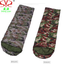 Camouflage Sleeping Bag Outdoor Mountaineering Camping Sleeping Bags Thick Warm Autumn Winter Hiking Camping Adult Sleeping Bag(China)