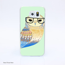 3058G Snowy Owl H4a Print Hard Transparent font b Case b font Cover for Galaxy S3