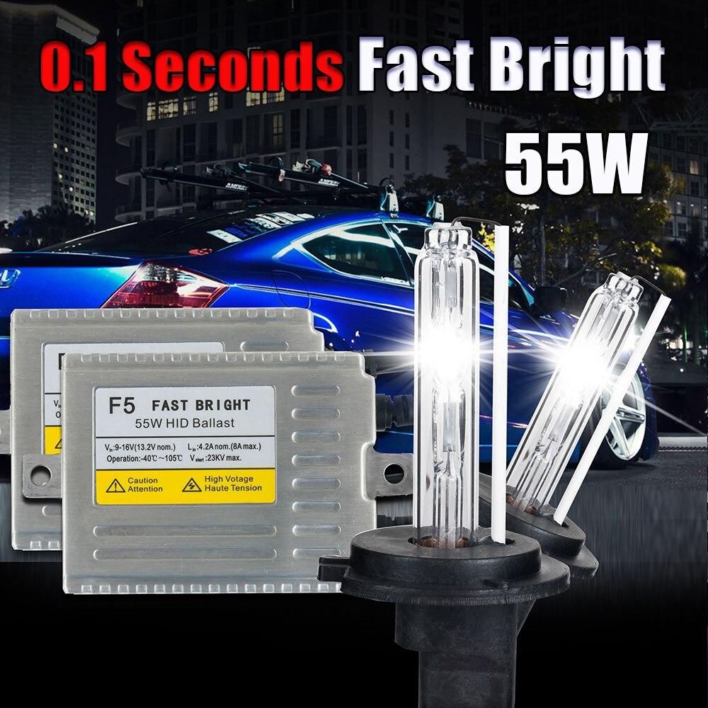 Slim ballast H1 xenon HID car headlight F5 55W 0.1 second Fast bright xenon H1<br><br>Aliexpress