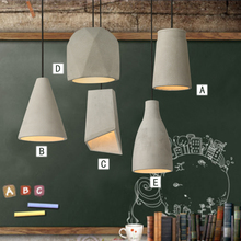 Cement lamp pendant lightsrestaurant Nordic art creative personality living room bedroom bedsid Selection of cement material SN8(China)