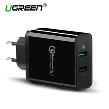 Ugreen USB Charger Universal Quick Charge 3.0 30W Fast Mobile Phone Charger(Quick Charge 2.0 Compatible) for Samsung Huawei LG(China)