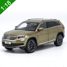 Brand New 1:18 KODIAQ Volkswagen Skoda SUV Car Model Diecast Alloy Metal Original Off-Road luxury Car For Adult Gift Collection