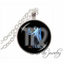 Virgo Zodiac Necklace Art Picture Pendant Jewelry The Sixth Astrological Sign Virgo August September Birthday Gifts Necklaces(China)