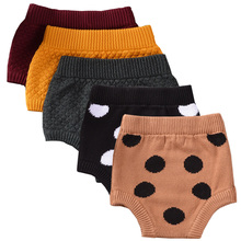 QUIKGROW True Quality Cotton Knitted Infant Baby Bloomers Adorable Polka Dots Shorts Knitwear Bottoms Pants YM21KZ