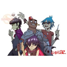 Best Nice Custom Gorillaz Poster Good Quality Wall Poster Home decoration Wall Sticker For Bedroom cd%55