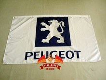 peugeot racing team flag,peugeot racing banner,90*150CM polyster brand flag(China)