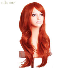 SNOILITE Women 23inch Hallowee Wig Synthetic Hair Long Curly Cosplay Wigs Purple Black Pink Red White Orange Blonde