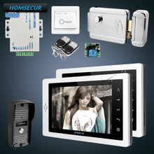 "HOMSECUR 1C2M with Electric Lock 7"" Wired Video&Audio Home Intercom + Keys Included(China)"