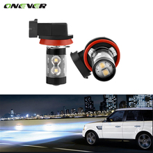 Onever  2pcs 12V H11 Car Fog Light 10-LED 6000K Xenon White DRL Lamp Super White 50w 6000K Halogen Xenon Car Auto Head Lamp