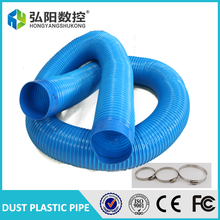 100 mm/ M Dust suction pipe vacuum wood plastic pipe spring empty Cyclone dust collector tube tube inside diameter+3clamps