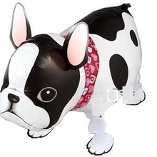Free shipping 20pcs pet balloon bulldog ballon walking balloons animals style balloon inflatable toys for kids party decortions