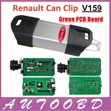 Green PCB Board chip V159 Renault Can Clip Auto Diagnostic Interface for Renault Scanner Tool support Multi-language DHL Free