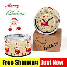 Free Shipping To Christmas Santa Clause Gift 2pcs/lot Watches Kitchen Fridge Magnets Aluminum Can Wall Clocks,Metal Tin Clocks