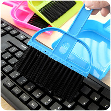 Random Delivery! Mini Desktop Dust Broom Dustpan Creative Household Table Cleaning Brush Computer Keyboard Dusting Brush   G24