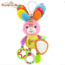 Kid Baby Crib Cot Pram Hanging Rattles Stroller&Car Seat Toy Rabbit Duck Butterfly Ringing Stuffed Plush Animals Baby Toy