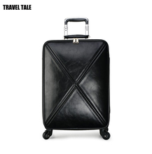 "TRAVEL TALE 16""20""24""inch women PU leather suitcases spinner trolley rolling luggage on wheels"