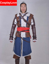 Assassin's Creed Cosplay IV Black Flag Edward Kenway Costume Standard Version With Shoes Cover Assasins Creed Cosplay Costumes