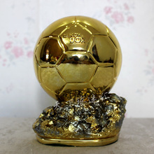 24cm  Factory Direct Supply Football World Player of the Year Trophy Resin Golden Ball Ballon d'Or