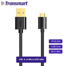 Tronsmart Micro USB Cable Gold-plated Connector Micro USB USB Cable 0.3m/1m/1.8m Xiaomi/Honor/Samsung/Huawei/LG