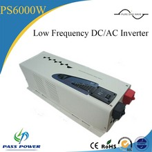 LED+LCD Display dc to ac low frequency converter 50hz 60hz 6kw inverter with charger(China)