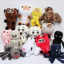 Minecraft Plush Toys Pig/Rabbit/Wolf/Ghast/Steve/Dog/Sheep/Enderman/Cow Stuffed Brinquedos Pelucia Game Soft Toys Animals