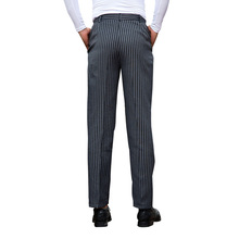 Top Selling Chef Uniform Chef Working Pants Striped Chef Pants Breathable Food Service Pants Mens Work Wear