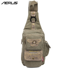 Buy AERLIS Messenger Men Bag Handbag School Casual Canvas Leather Crossbody Shoulder Bags Teenager Chest Pack Satchel Sling 4229 for $17.98 in AliExpress store