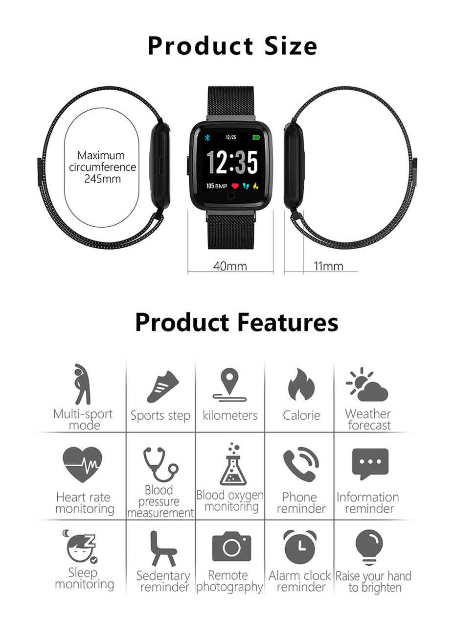 COLMI Full screen multi-touch Smart watch IP67 Waterproof Fitness Tracker Heart Rate Monitor Clock Smartwatch For Android IOS_12