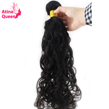 Atina Queen Wet and Wavy Human Hair Weave Bundles 10-30inch Natural Color for Black Women Free Shipping non Remy Peruvian 1piece(China)