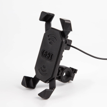 Universal Bike Phone Mount /Motorcycle Rotating Cell Phone Stand Mount Holder with USB Charging Port for iPhone Samsung GPS(China)