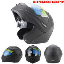 Dual Visor Modular Flip Up helmet motorcycle helmet racing Motorcross helmet DOT approved Size S M L XL