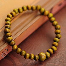 Tibetan Chunky Chain 6mm Green / Red Sandalwood Wooden Buddha Bracelets Men and Women Religion Charm Dropshipping Wholesale
