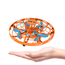 Funny Hand Controlled USB Charging Flying Ball Mini Aircraft Interactive Infrared Induction with 360 Rotating LED Light for Kids(China)