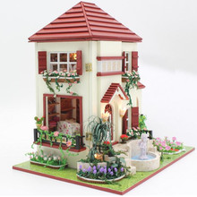 Handmade Doll House Diy Miniature 3D Wooden Puzzle Dollhouse Miniaturas Furniture House Doll For Children Birthday Gift Toys