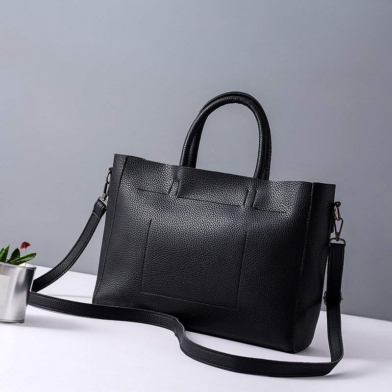 Quality PU Leather Fashion Handbag Black Classic Lady Large Shoulder Bags Woman Tote Casual Bags Bolsa Female Composite Bag<br><br>Aliexpress
