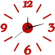 12'' 3D DIY Wall Clocks Digital Kitchen Clock Outdoor Modern Big Large Numeral Retro Antique Quartz Wall Clock Acrylic Decor(China)