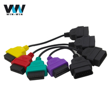 4pcs/lot For Fiat ECU MultiECUScan / FiatECU Scan Adapter OBD2 Connector Diagnostic Cable For Fiat Fiat Alfa Romeo Lancia(China)