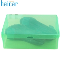 Haicar organizer 1PC Foldable Clear Shoes Storage Box Plastic Stackable Shoe Organizer U6803