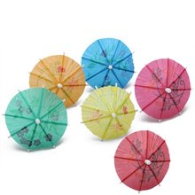 144pcs fruit cocktail mini umbrellas peacock drink picks party picks art toothpick paper garland for Wedding party supplies