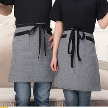 1 piece Chef Aprons restaurant kitchen waiters grille stripe print aprons cake food service(China)