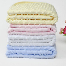 2017 Winter Newborn Baby Blanket Child Blanket Soft Swaddling Coral Fleece Receiving Blankets Aden Anais(China)