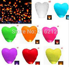 Fashion Hot Heart-shaped Chinese Flying Sky Lanterns wishing lamp for wedding etc(China)