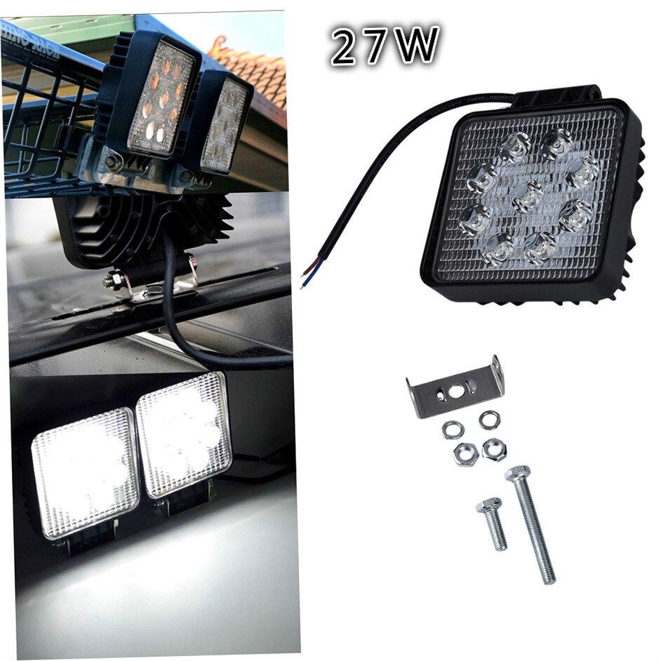 Promotion LED Car Spotlights,12v24v Cheap  27w LED Driving Light for trucks 27w LED headlight<br><br>Aliexpress
