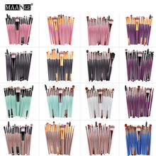 Professional 15 Pcs Makeup Brushes Set Foundation Eye Shadow Eyebrow Eyeline Lip Brushes Blending Cosmetics Beauty Make Up Tools