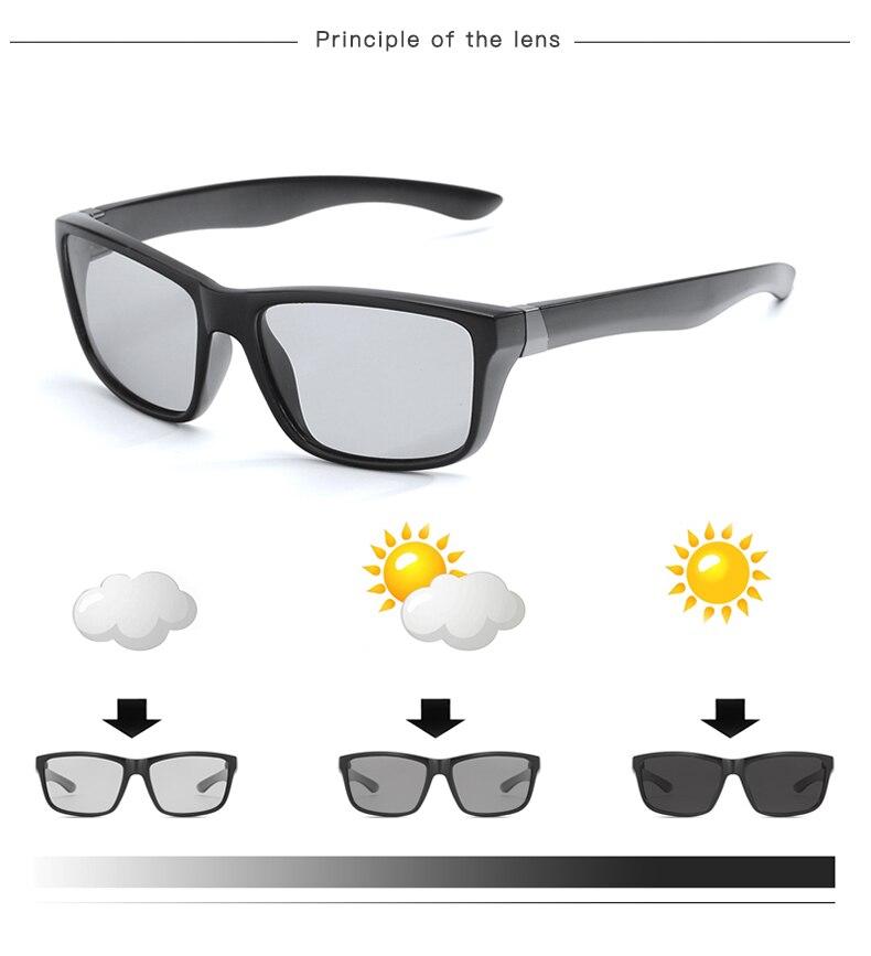 dca1e90ff3db 2018 New Men s Photochromic Polarized Sunglasses Driving Eyewear For ...