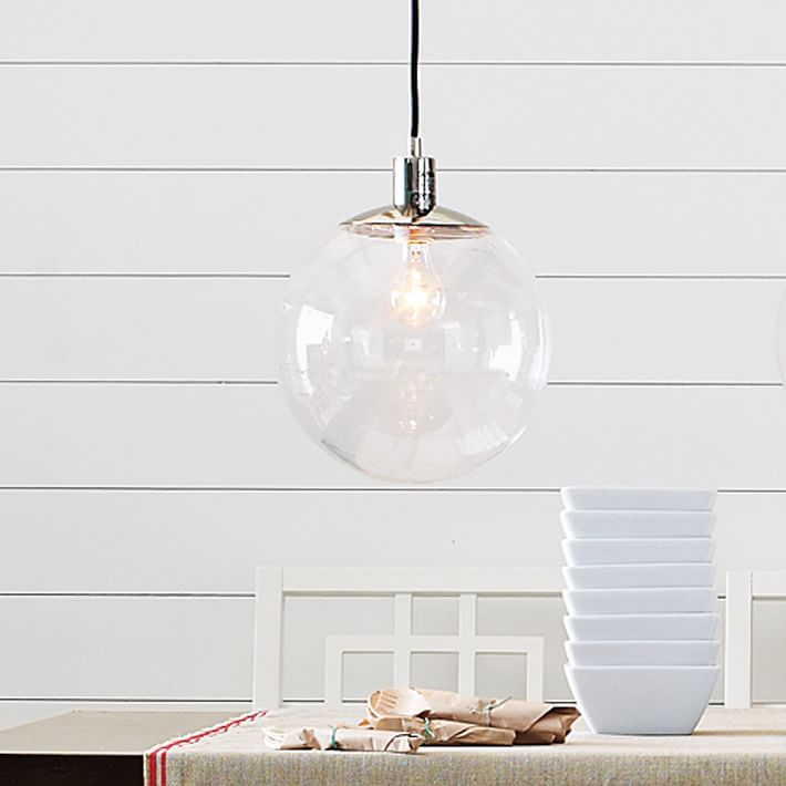 Modern brief fashion transparent clear glass ball restaurant lamp bar pendant lights personalized single lamps dia20cm,25cm,30cm<br>