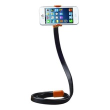 Universal Mobile Phone Stand Long Arm Lazy Mobile Phone Gooseneck Stand Holder Flexible Bed Desk Table Clip Bracket for Phone(China)