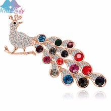 Miss Lady Enamel Lizard Animal antique peacock Brooches for Women Girls Corsages vintage Brooch lable pins jewelry fashion
