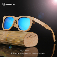 KITHDIA TOP Brand Designer men wood Sunglasses New Polarized Blue Skateboard Wood sunGlasses Original Box Retro Vintage Eyewear